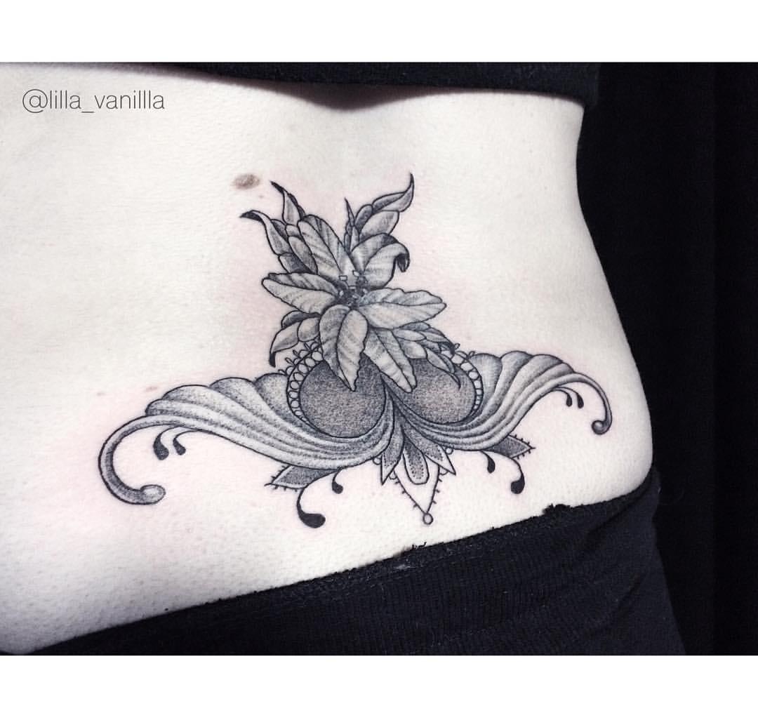 """Художественная татуировка """"узор"""". Мастер Лилия"""