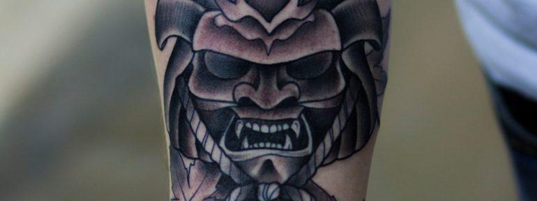 Художественная татуировка «Самурай». Мастер Лёша Стафеев