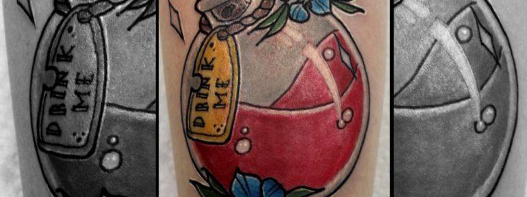 Художественная татуировка «Зелье». Мастер Руслан Тавакалов