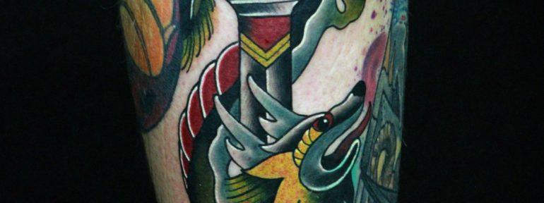 Художественная татуировка «Дракон». Мастер Лёша Стафеев.