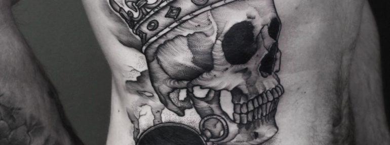 Художественная татуировка «Череп». Мастер- Anna KORE.