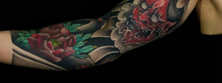 Художественная татуировка «Япония». Мастер Лёша Стафеев