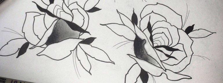 Свободный эскиз «Розы». Мастер- Ил Берёза.