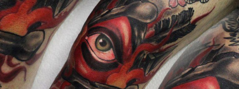 Художественная татуировка «Глаз».Мастер Дима Поликарпов.