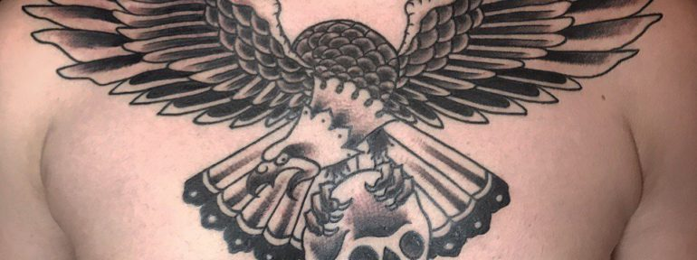 Художественная татуировка «Орёл». Мастер- Ил Берёза.