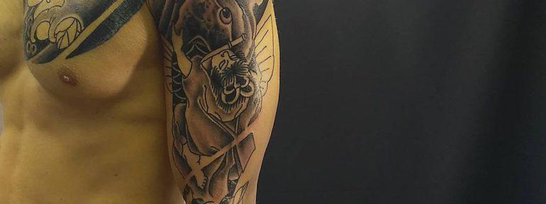 Художественная татуировка. Процесс. Мастер Алексей Стафеев