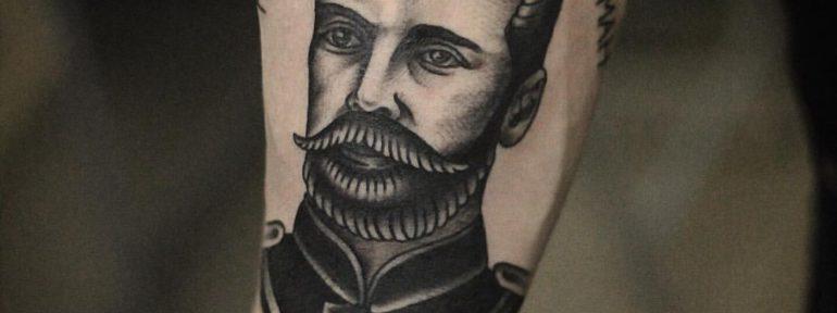 Художественная татуировка «Николай 2». Мастер- Александр Бахаревич.