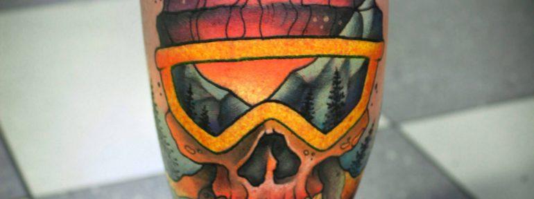 Художественная татуировка «Череп». Мастер- Анна Корь
