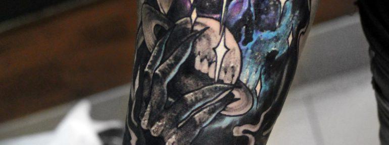 Художественная татуировка «Смерть». Мастер Дима Поликарпов
